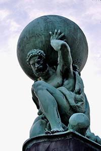 Image result for atlas holding the world on his shoulders